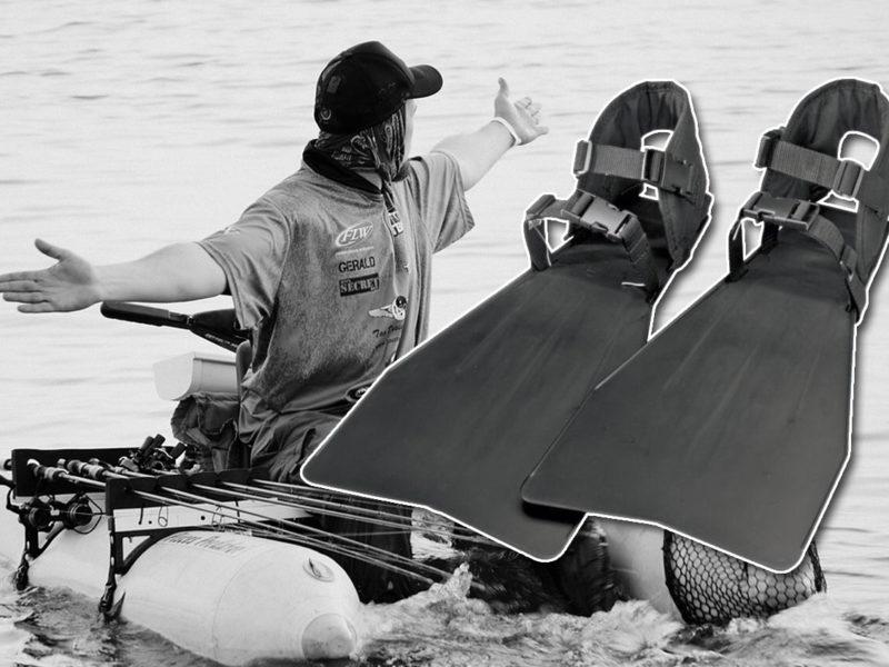 Les palmes pour la pêche en float tube